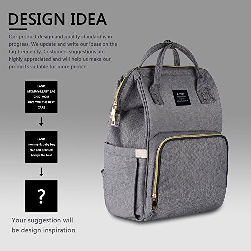 571282f0acb HaloVa Diaper Bag Multi-Function Waterproof Travel Backpack Nappy Bags for Baby  Care