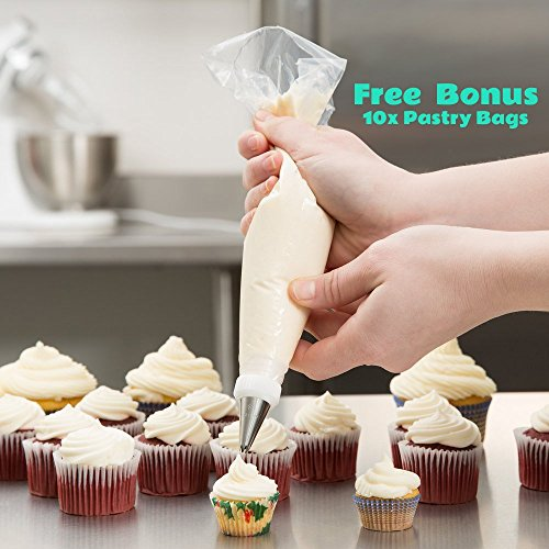 Cake Decorating Spatula from KitchWhiz, The ONLY Professional icing spatula  set including 6\