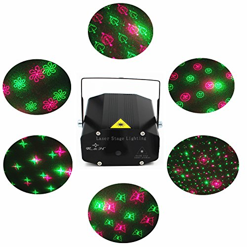disco laser led projector stage lights mini auto flash rgb led stage lights sound activated for dj disco party home show birthday party wedding stage