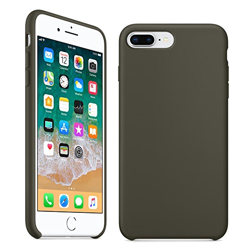 new product a0ba5 e3042 iPhone 8 Plus Case, iPhone 7 Plus Case,LINDIANSHUMA Liquid Silicone Gel  Rubber Case with Soft Microfiber Cloth Lining Cushion for Apple iPhone 8  Plus ...