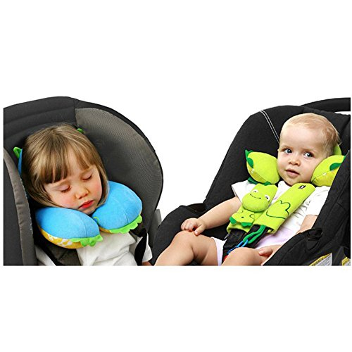 Inchant Cartoon Animal Shape Baby Infant Car Seat Pillow Headrest Toddlers Soft Head Neck Support For