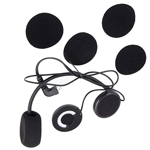 Buyee Wired Microphone Headphone Speaker for BT Interphone Bluetooth Motorcycle Helmet Headset
