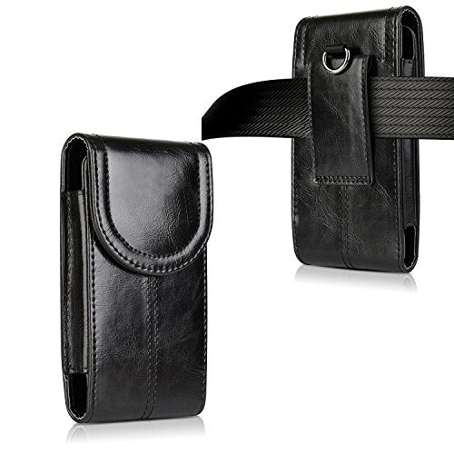 half off 842c1 1f347 iPhone 8 Plus 7 Plus 6S Plus Belt Holster,kiwitatá Vertical Premium Leather  Belt Pouch Carrying Case [Belt Loop] Crazy Horse for Galaxy S7 S6 LG G5 ...