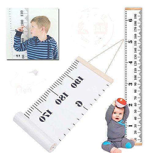Growth Chart For Kids Baby Height Wall Hanging Ruler Roll Up Canvas