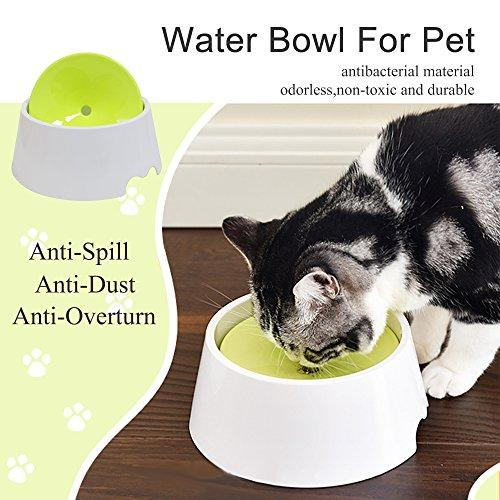 [2018 New Type] Dog Water Bowl, Gaity Pet No Spill Proof Water Bowl Slow  Feeder 34OZ Anti-Overturn/Anti-Spill/Anti-Dust/Anti-choking 2 in 1 Pet Bowl