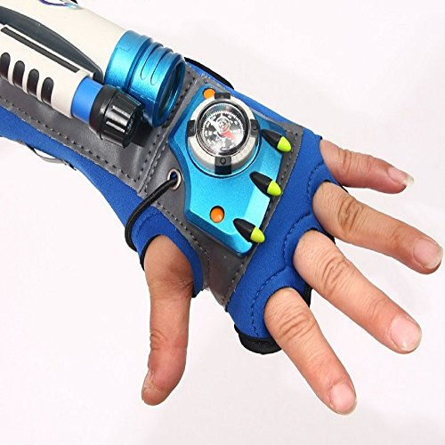 Children Tactical Detective Glove and Super Spy Sleeve with Flashlight Telescope Compass Digital Watch Pencil and Shorthand Notes for Children role play COSPLAY