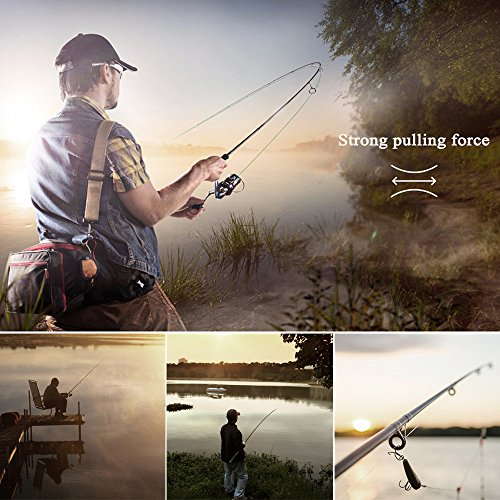OutLife Fishing Tackle Kit with Spinning Rod Reel Combos Line Lures Hooks  Travel Bag, for Sea Saltwater Freshwater Boat Fishing, Starter Professional