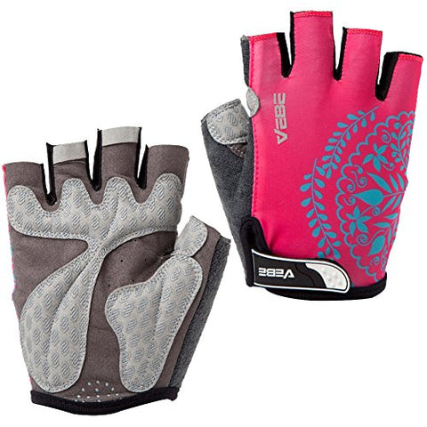 SBD VEBE Womens Sports Professional Non-Slip Biking Riding Gloves Cycling Accessaries,rosered,M