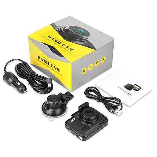 4K Dash Cam Dashboard Camera Car Recorder for Cars with Night Vision /  KAMTRON G-4 150 Wide Angle Lens Dashboard Camera With Wi-Fi and APP,  G-Sensor,