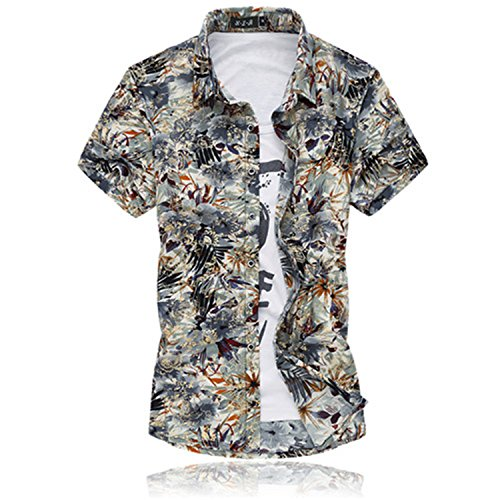 886341be824 Mary Steele Men Shirts Clearance Polo Mens Short Sleeve Silk Shirt Plus  Size Summer Casual Floral