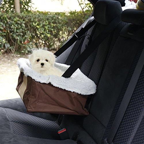 Kinbor Dog Booster Car Seat Metal Frame Construction Perfect For Small And Medium Pets Up To
