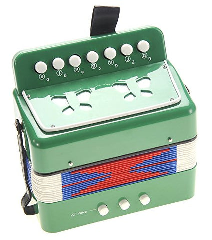 AMPERSAND SHOPS Kids Musical Instrument Accordion Green
