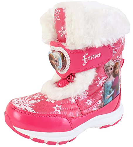 Disney Frozen Elsa Anna Forever Girls Winter Warm Pink Snow Boots Costume Shoes (Parallel Import/Generic Product) (11 M US Little Kid)