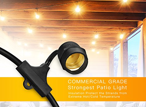Outdoor string lights with edison vintage dimmable 11s14 bulbs outdoor string lights with edison vintage dimmable 11s14 bulbs shine hai commercial industrial grade aloadofball Gallery