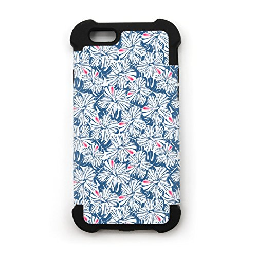 Blue Tropical Hibiscus And Palm Iphone 6 Plus Caseiphone 6s Plus