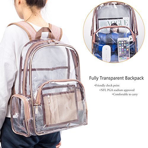 f7110c12228e NiceEbag Clear Backpack with Cosmetic Bag   Case