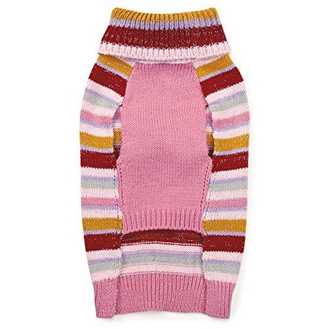 Zack & Zoey Elements Striped Bow Sweater, XX-Small