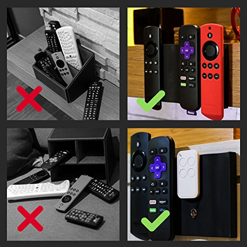 Roku and Fire TV Remote Holder | The Float Remote Holder by EXINOZ | Simple  Solution For Storing Your Roku and Fire TV Remotes In One Place | New Tech