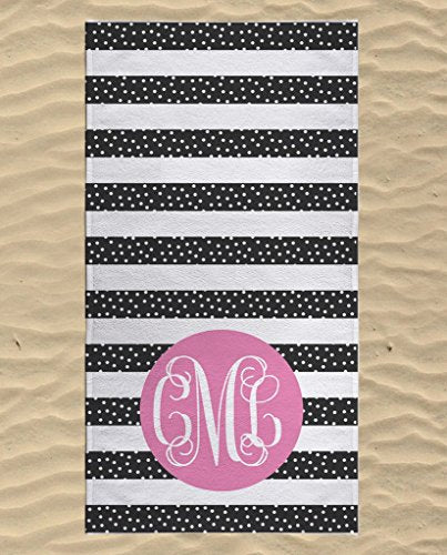 monogrammed beach towel swimming towels for kids personalized cute