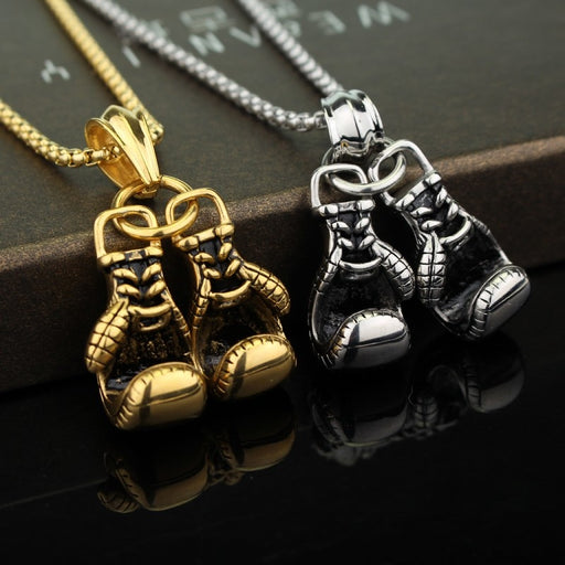 Boxing Gloves Necklace For Men Sporty zinc alloy Pendant Necklaces move Men Jewelry Best Gift Game gift jewelry