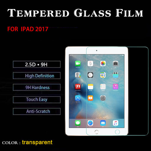 5pcs Tempered Glass For Apple iPad 2017 9.7 inch 9H Hardness Glass Screen Protector Film for ipad 2017 Tablet Guard Cover films