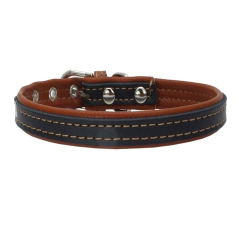 Colors Dog Collars Cow Leather Dog Pet Cat Puppy