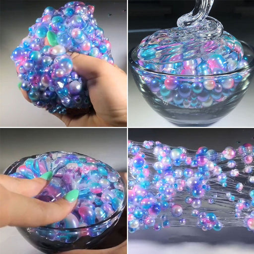 60ML Slime Colorful Beads Mermaid Crystal Mud Cotton DIY Slimes Dough Slime Charms Stress Relief Toy for Children