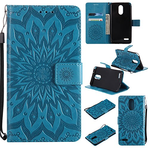 LG Stylo 3 Wallet Case, LG Stylo 3 Plus Wallet Case,LG Stylus3 Wallet Case  ,Sunvy Premium Sun Flower 3D Print PU Leather With ID Credit Card Slot Flip