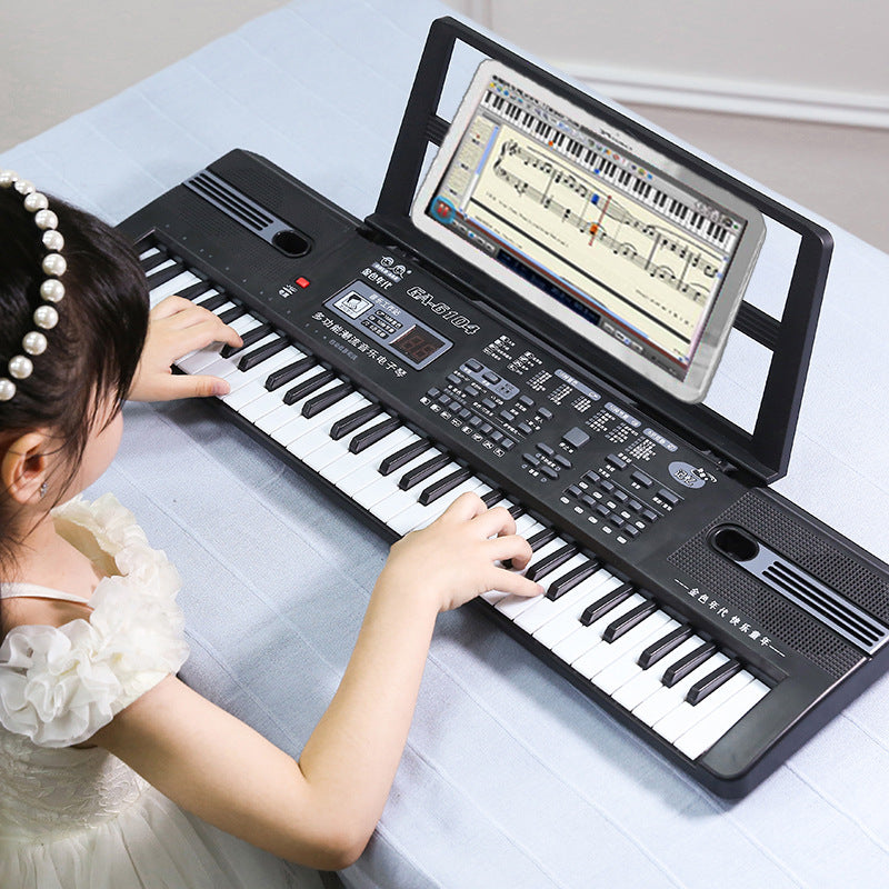 61 Keys Electronic Keyboard Electric Organ Piano With Microphone/Key Sticker Early Educational Tool