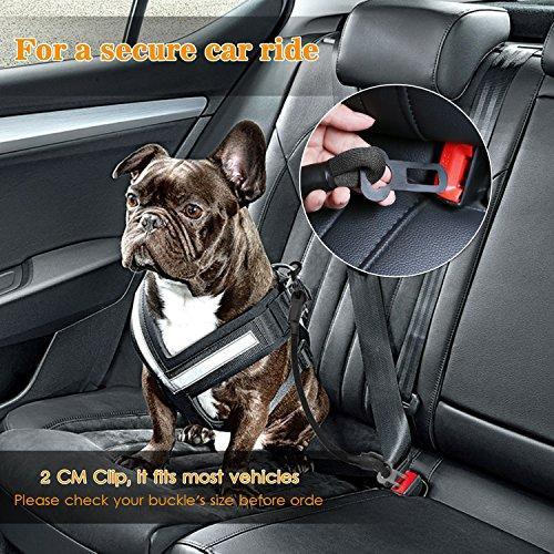 Dog Safety Belt Chew Resistant Secure Car Restraint With Universal Clip For