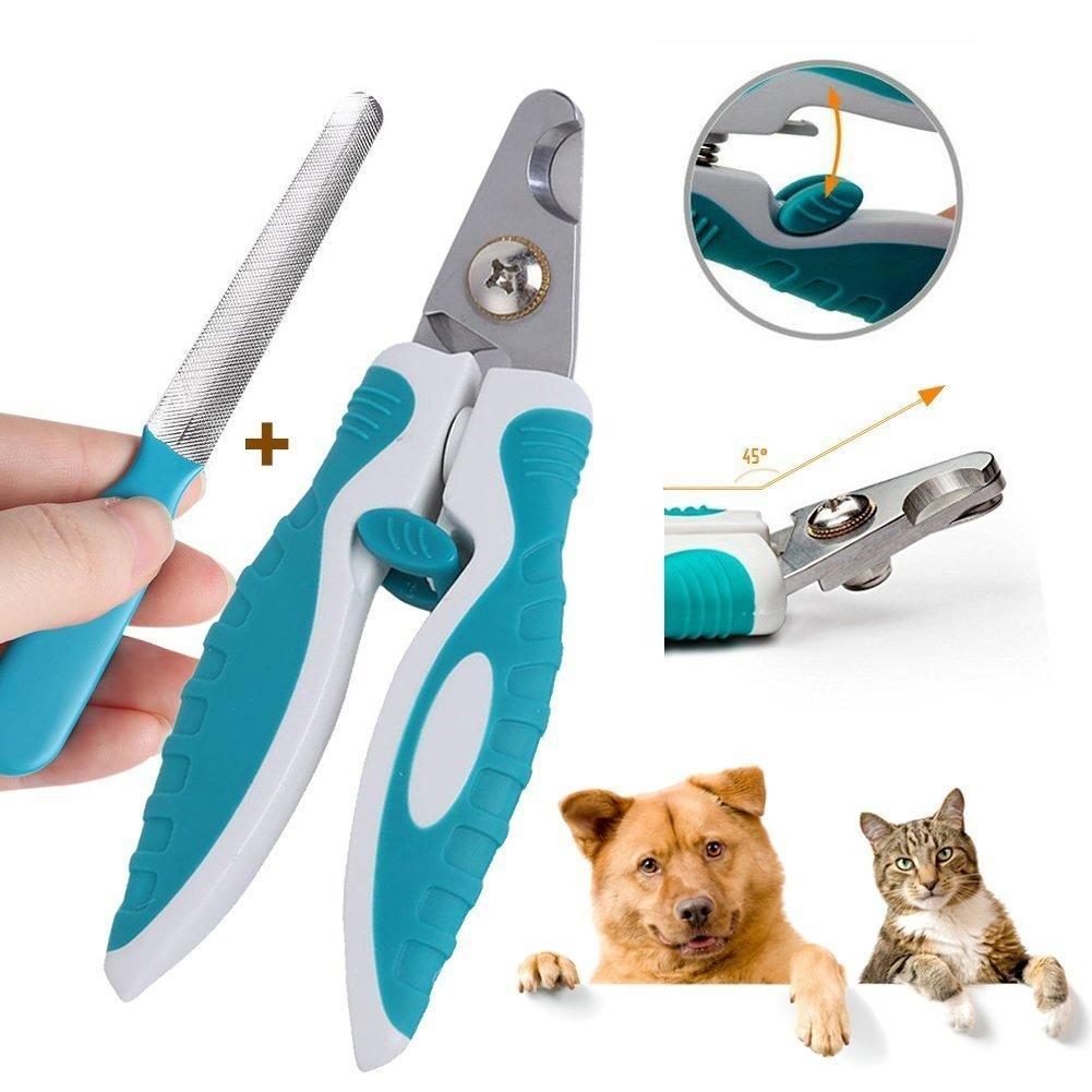Dog / Cat Nail Clippers and Trimmer Addprime, Safety Guard to Avoid ...