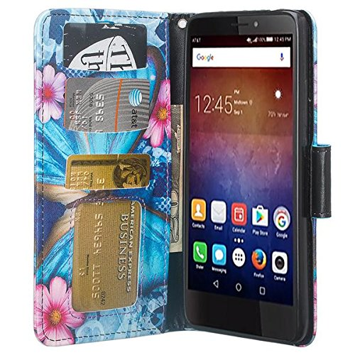 Huawei Ascend XT 2 Case, Huawei Elate 4G LTE Case, Wrist Strap Flip  [Kickstand] PU Leather Wallet Case Cover with ID &Credit Card Slots For  Huawei