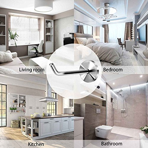 Lonker  Stainless Steel Wall Hook Single Holder for Living room Coat Hat Robe hanger Bathroom Towel Kitchen Strong Heavy Duty Garage Storage Organizer Utensil Hook(2pcs)