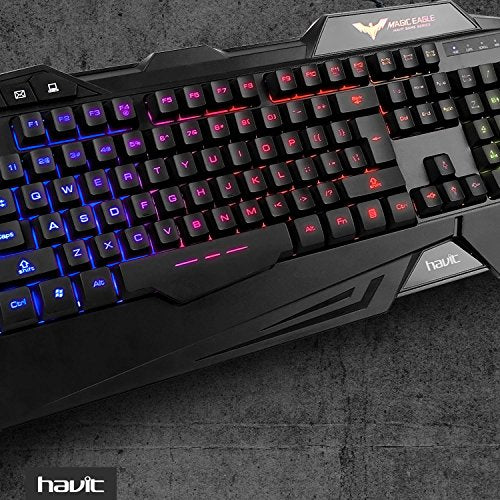 b802300f28b HAVIT Rainbow Backlit Wired Gaming Keyboard and Mouse Combo (Black ...