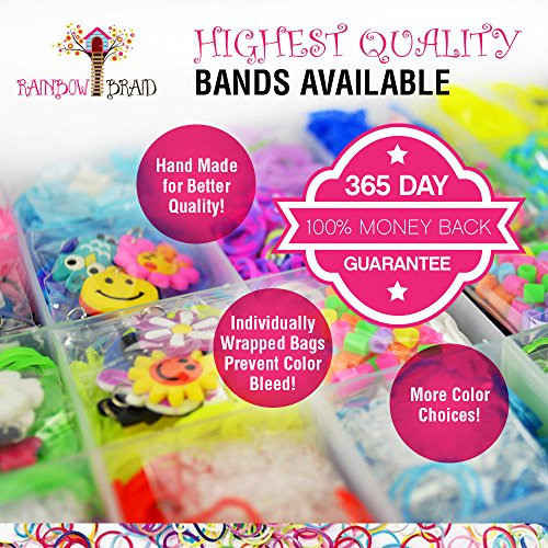 14,700+ Premium Rainbow Loom Bands Mega Refill Kit w/ 30+ Bright Colors,  13,900 Rubber Bands, 1,000 Clips, 200 Beads, 30 Charms and 120 Authentic