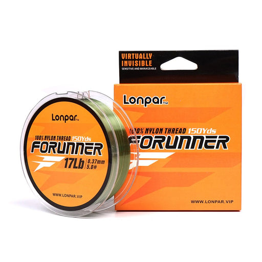 LONPAR Forunner Monofilament Fishing Line - 100% Nylon Thread, 150Yds/300Yds, 6LB Test up to 50LB Test, Various Color For Choose