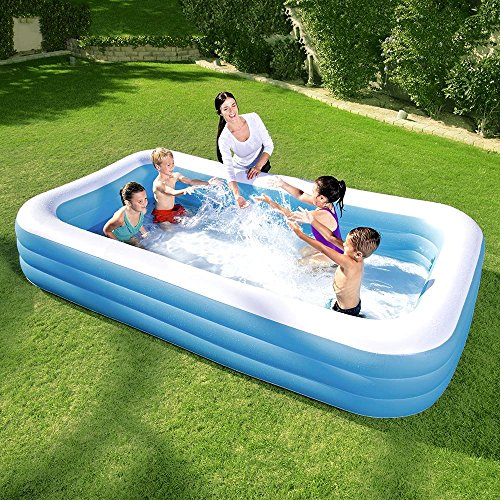 Above Ground Inflatable Pool To Family Inflatable Pool This Deluxe Kiddie Blow Up Above Ground Swimming Pool Is Great For