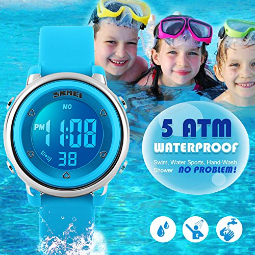 295ac285738 Kids Digital Watch for Boys Girls -Waterproof Sports Watch with Alarm  Stopwatch Outdoor Childrens Watches