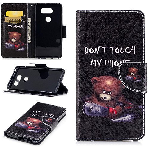 pretty nice ef214 9d6a8 LG V30 Case, LG V30+ Case, Easytop Kickstand Feature Premium PU Leather  Flip Fold Wallet Case with ID / Credit Card Slot Magnetic Closure for LG  V30 / ...