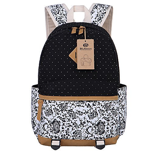 9e1032589a50 BLUBOON Canvas Backpack Girls School Bags Set for Teens