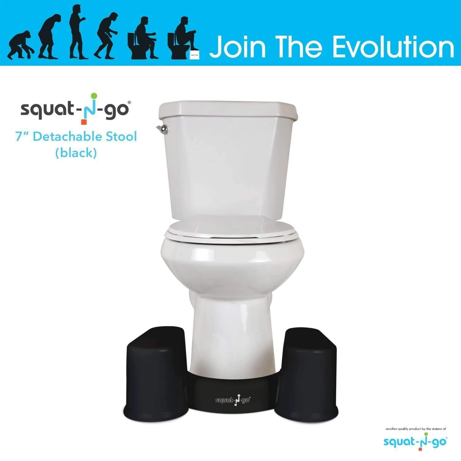 Squat N Go Space Saver Toilet Stool | The Only Detachable and ...