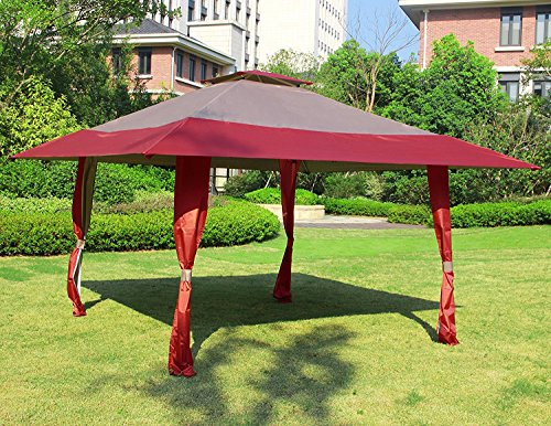 Cloud Mountain 13u0027 x 13u0027 Outdoor Patio Easy Pop-Up Double Roof Gazebo : vented pop up canopy - afamca.org