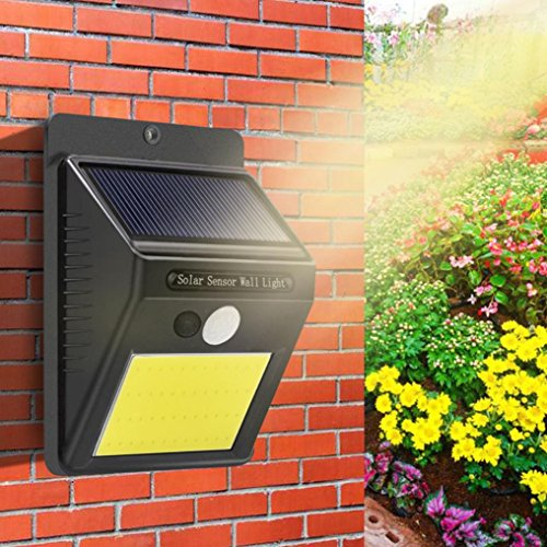SHJNHAN 48 LED Solar Wall Light, Powered Motion Sensor Outdoor Garden Security Lamp