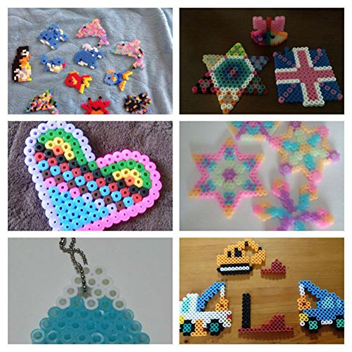 WXLAA Perler Beads Boards, Clear Pegboards for 5mm, Hama Fuse Beads Board  for Kids DIY Craft, Circles
