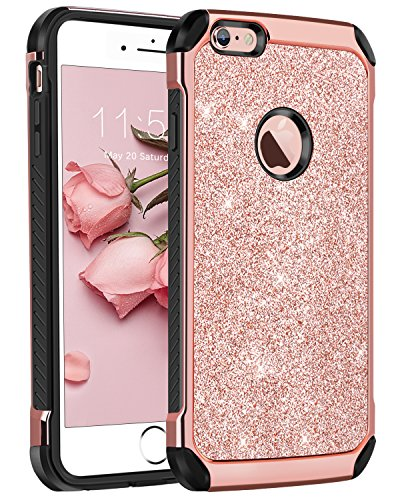 5f9f9a55931 iPhone 6 Plus Case,iPhone 6S Plus Case,BENTOBEN Sparkly Glitter 2 in ...