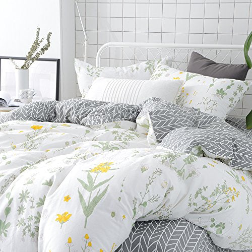 Vclife floral duvet cover sets full queen bedding sets white yellow vclife floral duvet cover sets full queen bedding sets white yellow flower branches design bedding duvet mightylinksfo Image collections