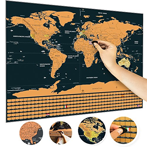 Scratch off the world map us states 252 flags perfect for scratch off the world map us states 252 flags perfect for travel memories gumiabroncs Gallery