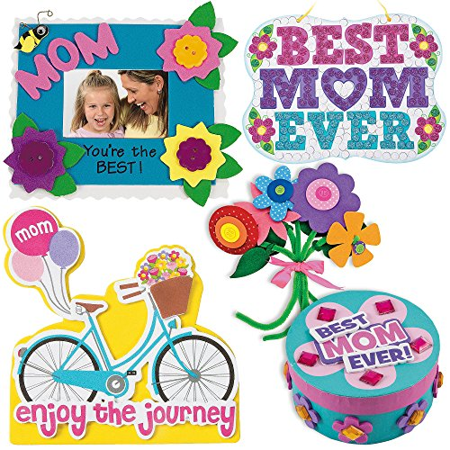 Mothers Day Craft Kit Mum Picture Photo Frame Self Adhesive