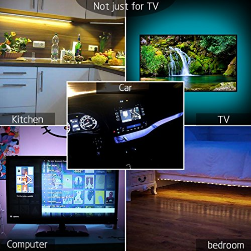 achivy color bias lighting for tv 39 inches 1m rgb 5050 dc 5v usb