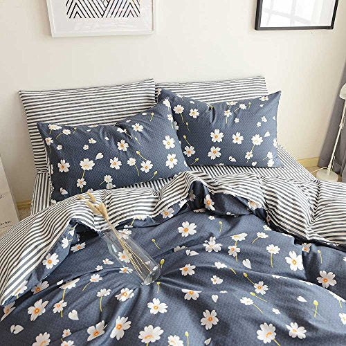 Highbuy Vintage Flower Printed Bedding Duvet Cover Set King Cotton